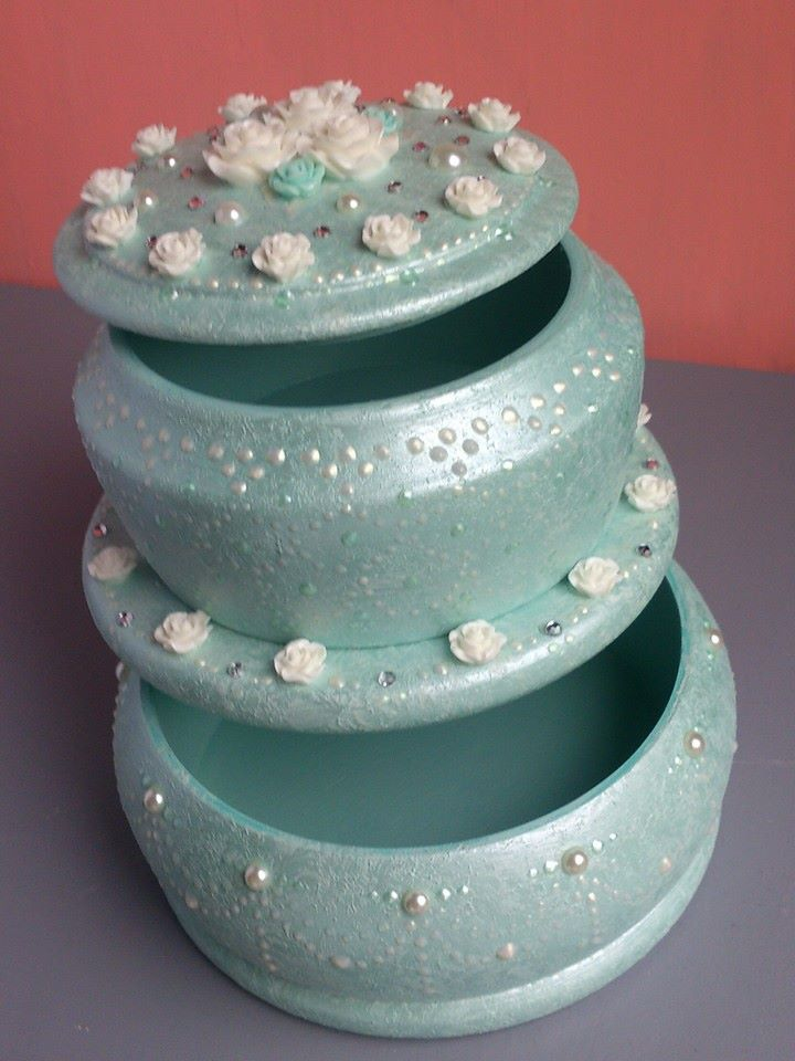 "Two tier jewelry-box ""Wedding Cake""(1) - 1"