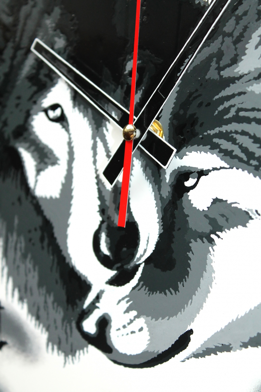 "Wall clock ""Wolves"" (25х25) (1) - 1"