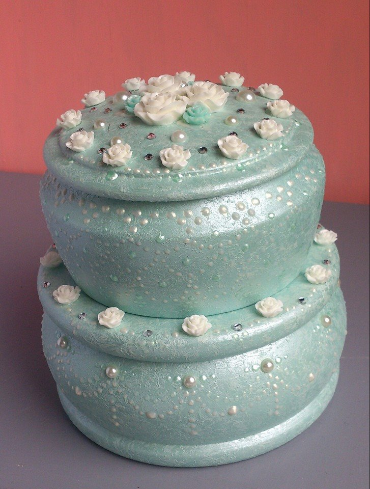 "Two tier jewelry-box ""Wedding Cake""(1) - 568"