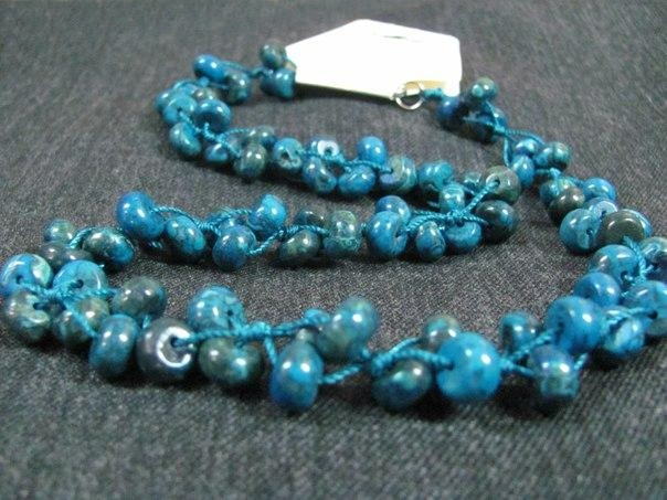 Bead necklace of blue agate(1) - 222