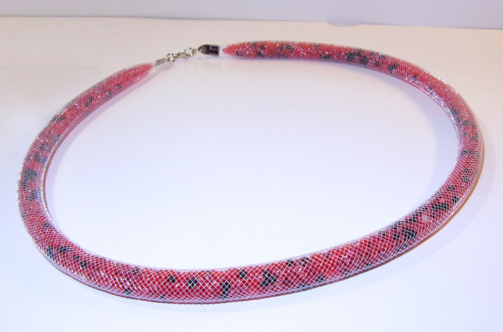 "Beaded rope necklace ""Flame"" (1) - 564"