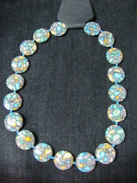 Bead necklace of figured round agate(1) - 224